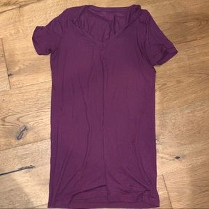 Lululemon sheer thin short sleeve v neck top